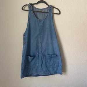 VINTAGE Northwest Blue DENIM OVERALL DRESS
